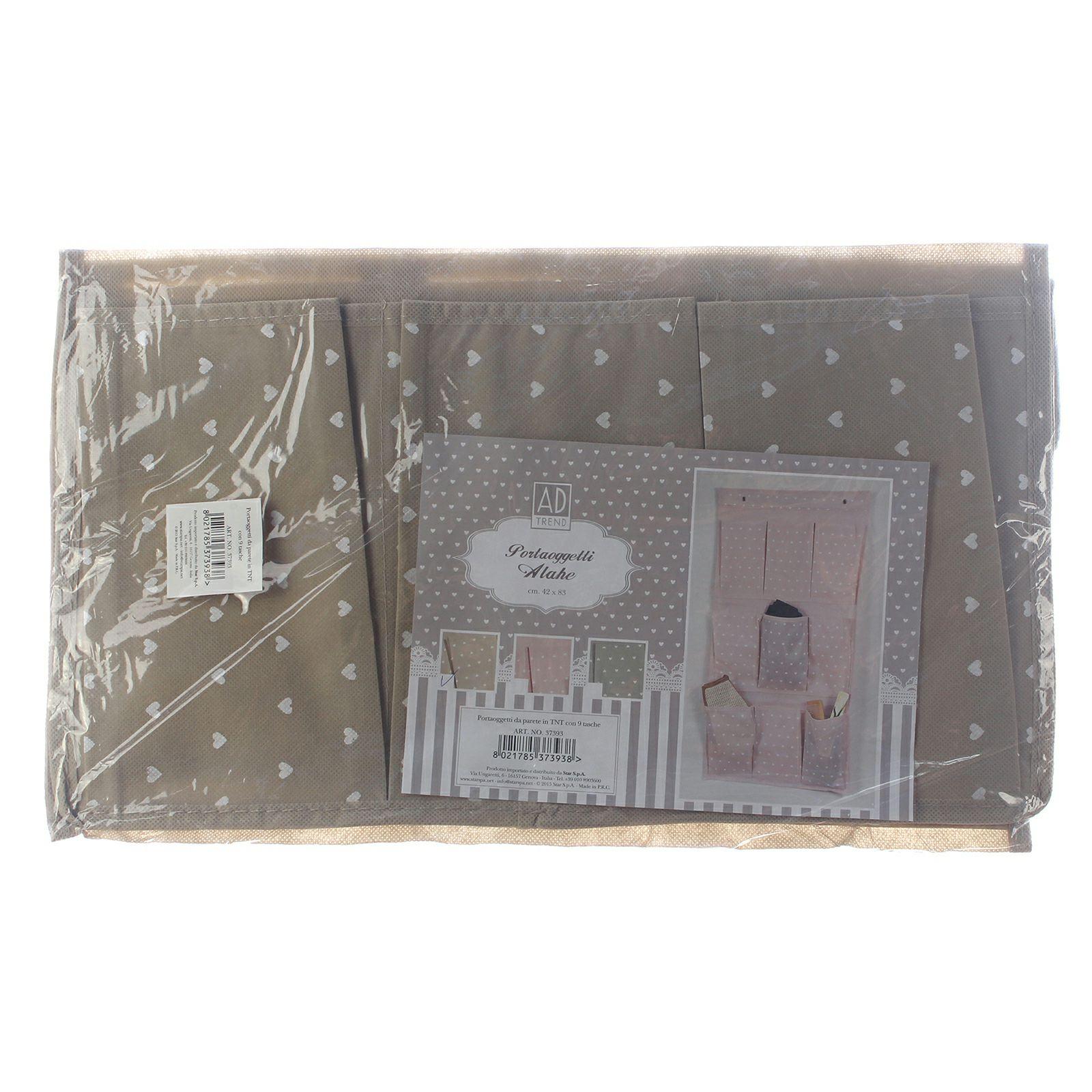 Portaoggetti Da Parete Per Cucina portaoggetti da parete o porta in tnt con 9 tasche 42x83cm