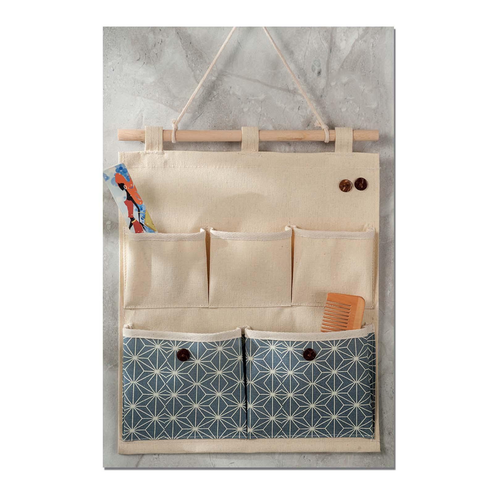 Portaoggetti Da Parete Per Cucina portaoggetti da parete o porta con 5 tasche noble 30x37cm
