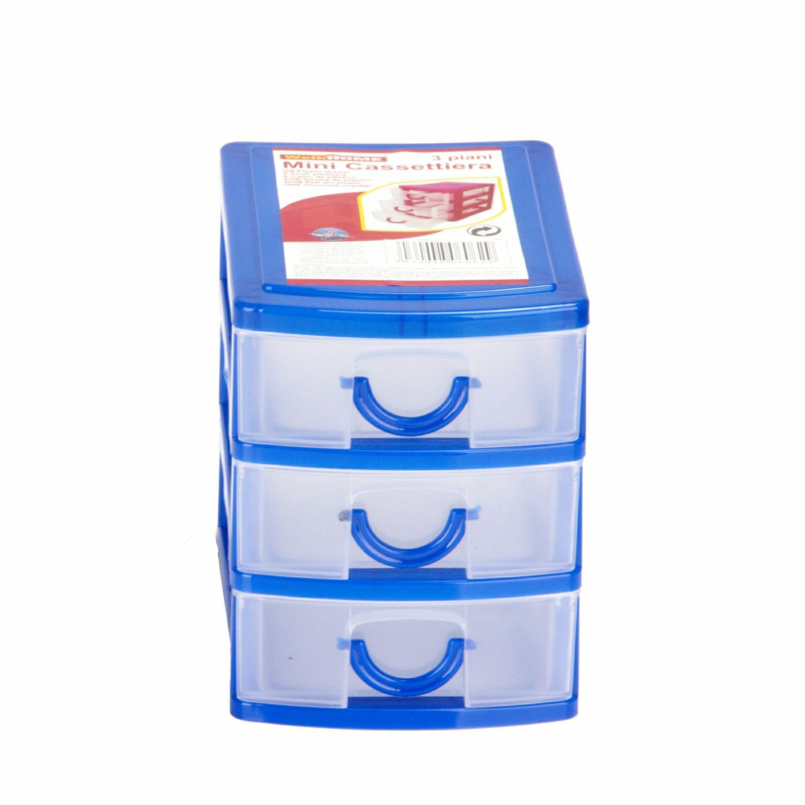 Mini Cassettiera Fai Da Te mini cassettiera da scrivania 3 cassetti 13x9xh11,5cm