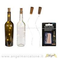 Tappo per bottiglia decorativo con filo di Led