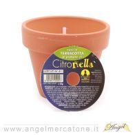 Vaso in terra cotta al profumo di citronella - Ø7xh6cm