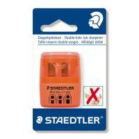 Temperamatite a 2 fori con contenitore arancione Staedtler-4007817015247