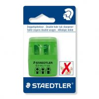 Temperamatite a 2 fori con contenitore verde Staedtler-4007817015278