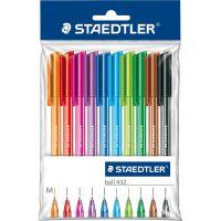 Penne a sfera 10 pezzi colori misti-4007817432228