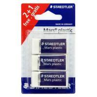 Gomma da cancellare per matita Staedtler Mars Plastic 3 pezzi-4007817525395