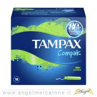 Tampax Compak con Applicatore per flussi medi/abbondanti - 16pz-4015400463122