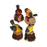 Uccellino in resina con sensore di movimento che canta-4029811278671