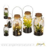 Pianta artificiale decorativa in vetro con Led-4029811452415