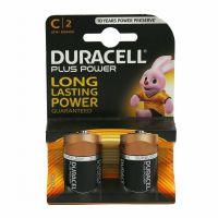Batterie alcaline C mezza torcia 1.5V 2 pezzi Duracell-5000394019089