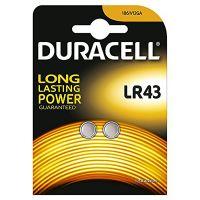 Batteria a bottone LR43 alcalina Duracell-5000394052581