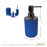 Dispenser per Sapone Blu in Plastica - Ø7.4x17cm-636946720193