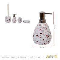 Dispenser per Sapone in Ceramica effetto Frammenti - Ø9x16.5cm-636946732837