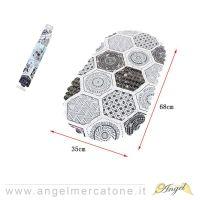 Tappeto antiscivolo Ovale Mosaico 68x35cm-636946740214
