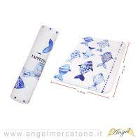 Tappeto da Bagno in Flanella Blue Fish - 45x75cm-636946740597