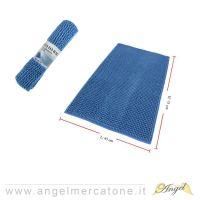 Tappeto da Bagno in Ciniglia Blu - 45x75cm-636946741389