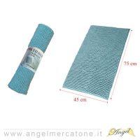 Tappeto da Bagno in Ciniglia Verde Acqua scuro - 45x75cm-636946741433