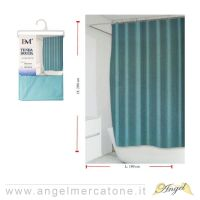 Tenda da Doccia 180x200cm - Verde Acqua scuro-636946750503