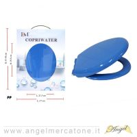 Copriwater in Plastica Blu - 21.5x29.8cm/37x43-46cm-636946760403
