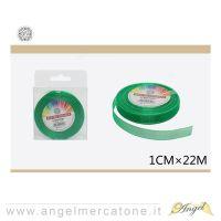 Nastro di organza Verde Smeraldo 1cmx22mt -6968258600745