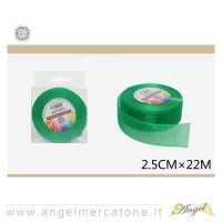Nastro di organza Verde Smeraldo 2.5cmx22mt-6968258601001