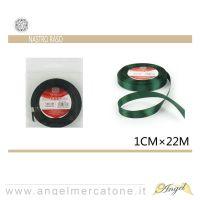 Nastro di raso Verde 1cmx22mt-6968258677389