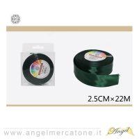 Nastro di raso Verde 2.5cmx22mt-6968258677471