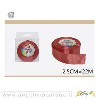 Nastro di raso Rosso 2.5cmx22mt-6968258677488