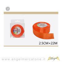 Nastro di raso Arancio 2.5cmx22mt-6968258681478