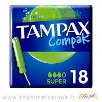 Tampax Compak con Applicatore per flussi medi/abbondanti - 18pz-8001090705662