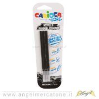 Carioca Ooops 3 ricariche punta da 0.8mm - nero-8003511410414