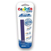 Ricambi Carioca Erasable Pen - ricariche compatibili - 3pz Blu-8003511450410