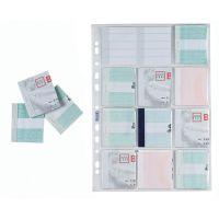 Buste porta matrici assegni A4 11 tasche con cartoncini, 10 buste-8006779006757
