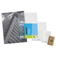 Buste portadocumenti a sacco trasparenti 8 x 12 cm, 25 pezzi-8006779345009