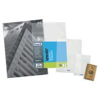 Buste portadocumenti a sacco trasparenti 13 x 18 cm, 25 pezzi-8006779345184