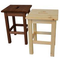 Sgabello alto legno massello abete verniciatura chiara-8020900025424