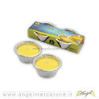 Candela al profumo di citronella 2pz -  Ø8.5xh4cm-8026871200006