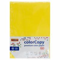 Carta a4 per fotocopie colorata risma 100 fogli 80g giallo forte-8033593016617