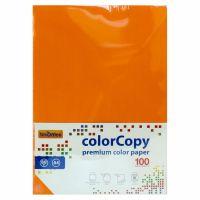 Carta a4 per fotocopie colorata risma 100 fogli 80g arancio forte-8033593016624