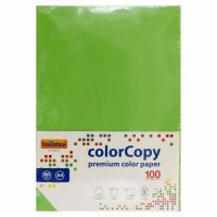 Carta a4 per fotocopie colorata risma 100 fogli 80g verde forte-8033593016648