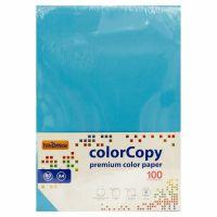 Carta a4 per fotocopie colorata risma 100 fogli 80g turchese-8033593016655
