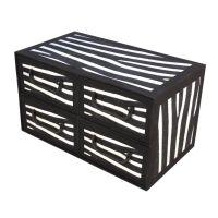 Cassettiera 4 cassetti orizzontale 44x25x25cm Zebra-8033695877284