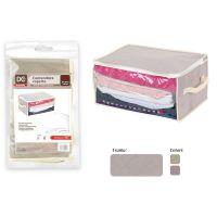 Scatola contenitore per coperte indumenti cerniera 40x30x20cm-8034139415253