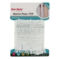 Nastro pizzo merletto da 7x50cm bianco-8056046189157