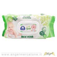 Salviettine Baby monouso 72pz - Aloe-8059174590567